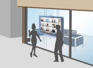 店舗設置イメージ 集客 デジタルサイネージ